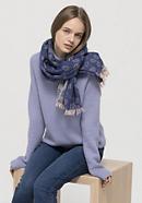 Jacquard scarf made of pure merino wool