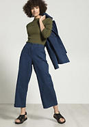 Jeans culottes made of hemp with organic cotton