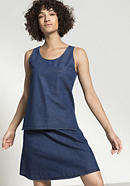 Jeans top made of organic cotton with linen