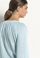 Jersey-Bluse aus Leinen mit Bio-Baumwolle