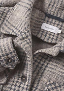 Jersey overshirt made of organic new wool with organic cotton