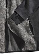 Kapuzen-Jacke aus Wolljersey und Tweedstrick