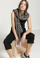Karo-Schal aus reinem Leinen
