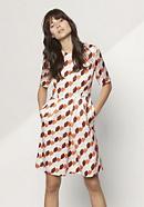 Kleid aus Bio-Baumwolle mit Seide und Hanf
