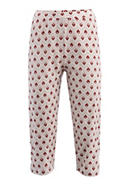 Knielange Pyjamahose aus reiner Bio-Baumwolle