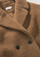 Limited by Nature Teddy coat made of new wool with organic cotton and camel hair