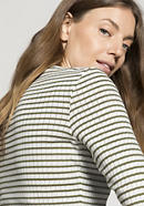 Long-sleeved striped shirt made of pure organic cotton