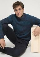 Merino wool sweater with baby alpaca