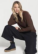 Pullover aus Schurwolle mit Bio-Baumwolle und Kaschmir