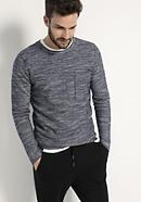 Pullover aus Schurwolle und Leinen mit Bio-Baumwolle