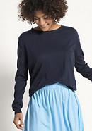 Pullover aus Seide mit Baumwolle