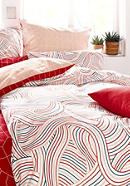 Satin-Bettwäsche Onda aus reiner Bio-Baumwolle