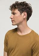Shirt aus Bio-Merinowolle mit Seide