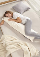 Side sleeper pillow with organic virgin wool filling
