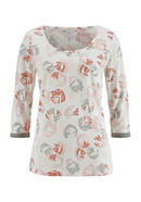 Sleep shirt made of organic cotton with silk