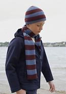 Streifen-Schal Betterecycling aus reiner Merinowolle