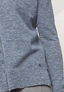 Strickjacke aus Alpaka mit Leinen