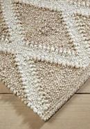 Teppichläufer Raute aus reiner Schurwolle