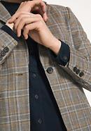 Tweedblazer aus reiner Schurwolle