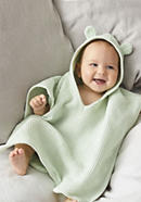 Waffle piqué bath poncho made from pure organic cotton