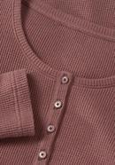 Waffle piqué henley shirt made of organic cotton with virgin wool