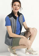 Wattierte Damen Weste aus Bio-Merinowolle mit Bio-Baumwolle