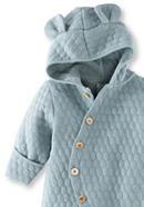 Wattierter Overall aus Bio-Baumwolle mit Bio-Merinowolle
