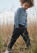 Wool denim trousers made of organic cotton with virgin wool