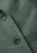 Wool fleece coat made from pure organic merino wool