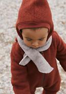 Wool fleece scarf made from pure organic merino wool