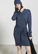 Wool jersey dress made from organic merino wool with silk