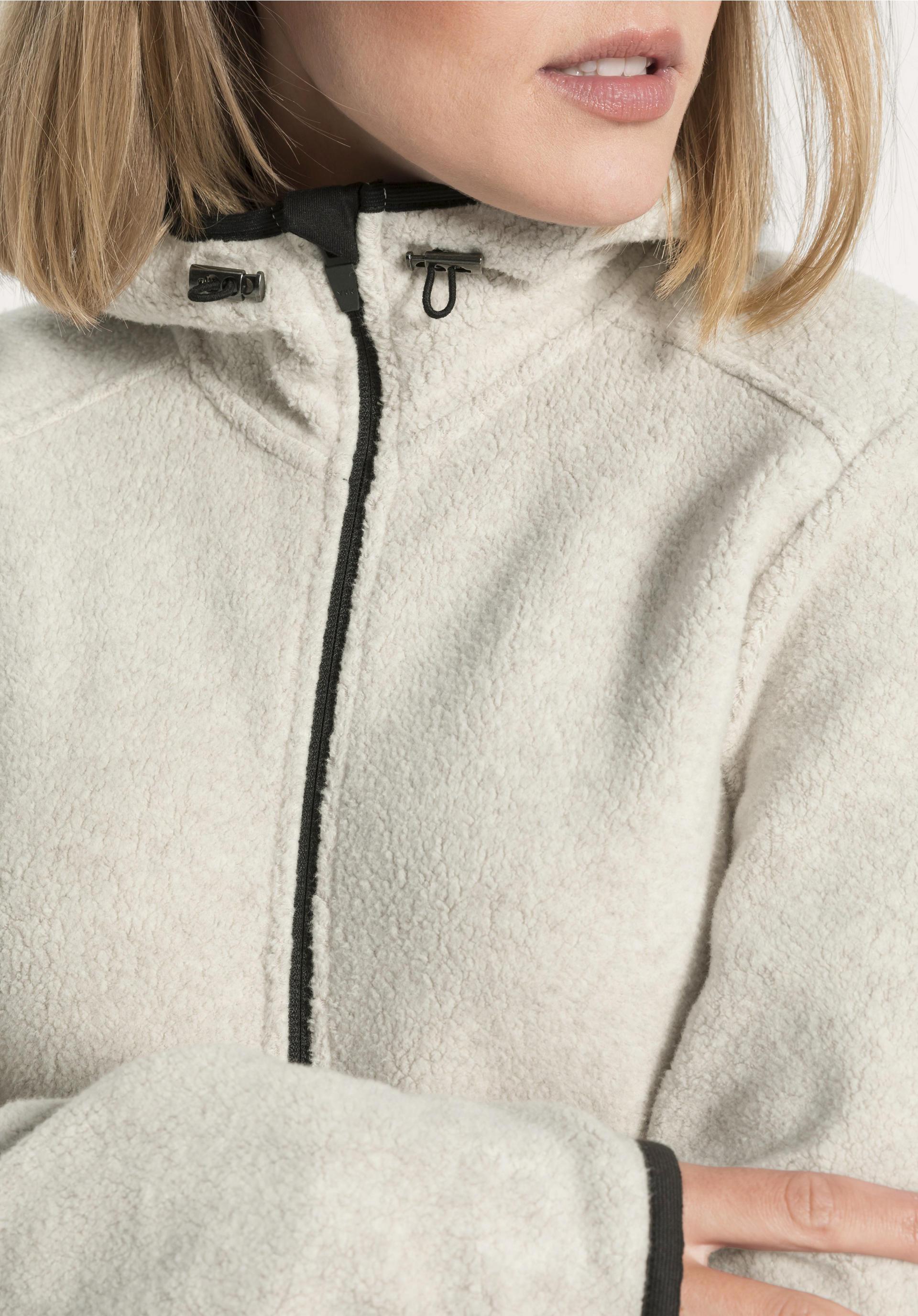 Damen Fleecejacke aus reiner Bio Baumwolle von hessnatur