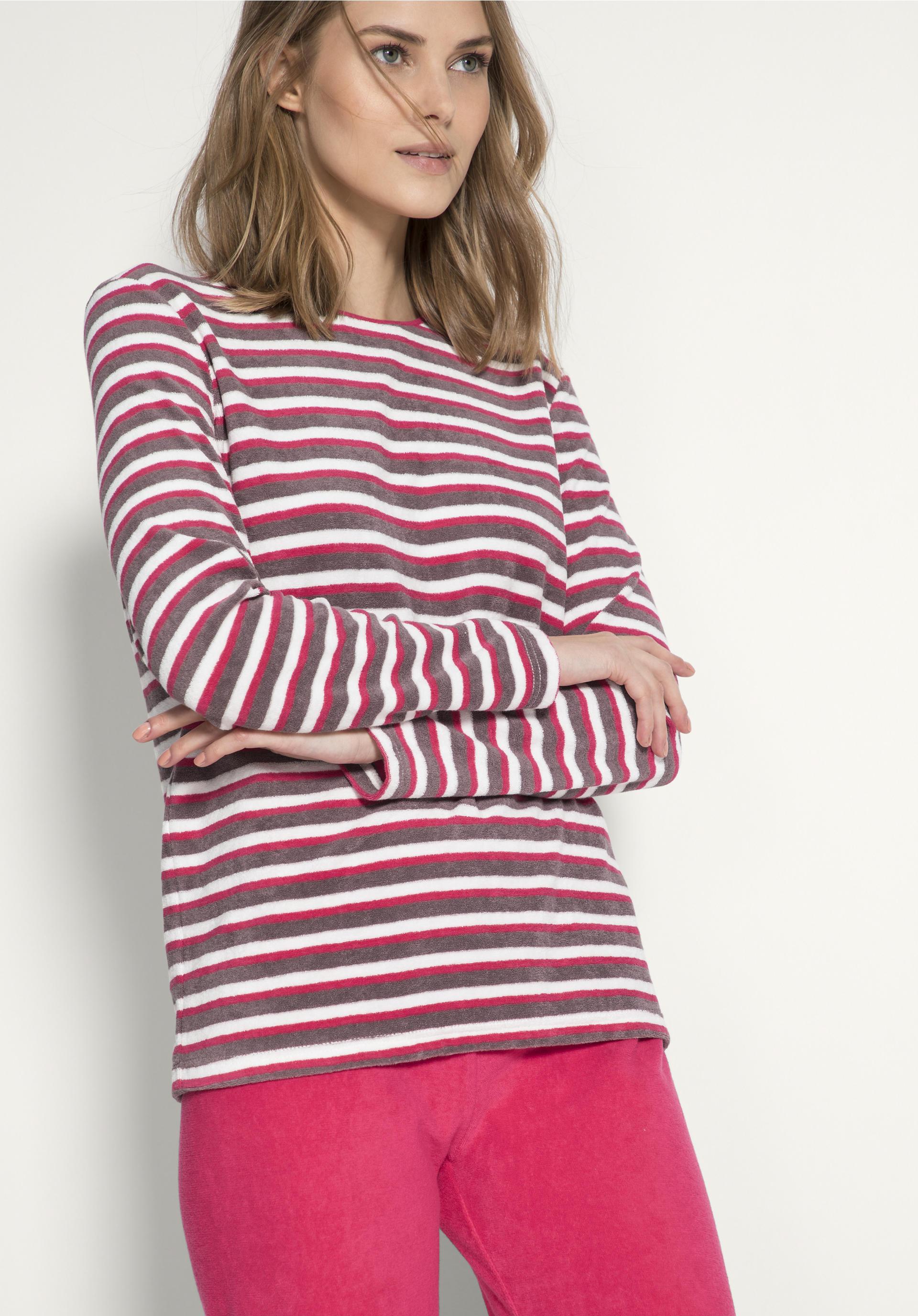 große Vielfalt Modelle Original- Einkaufen Damen Frottee-Sweatshirt aus reiner Bio-Baumwolle von hessnatur