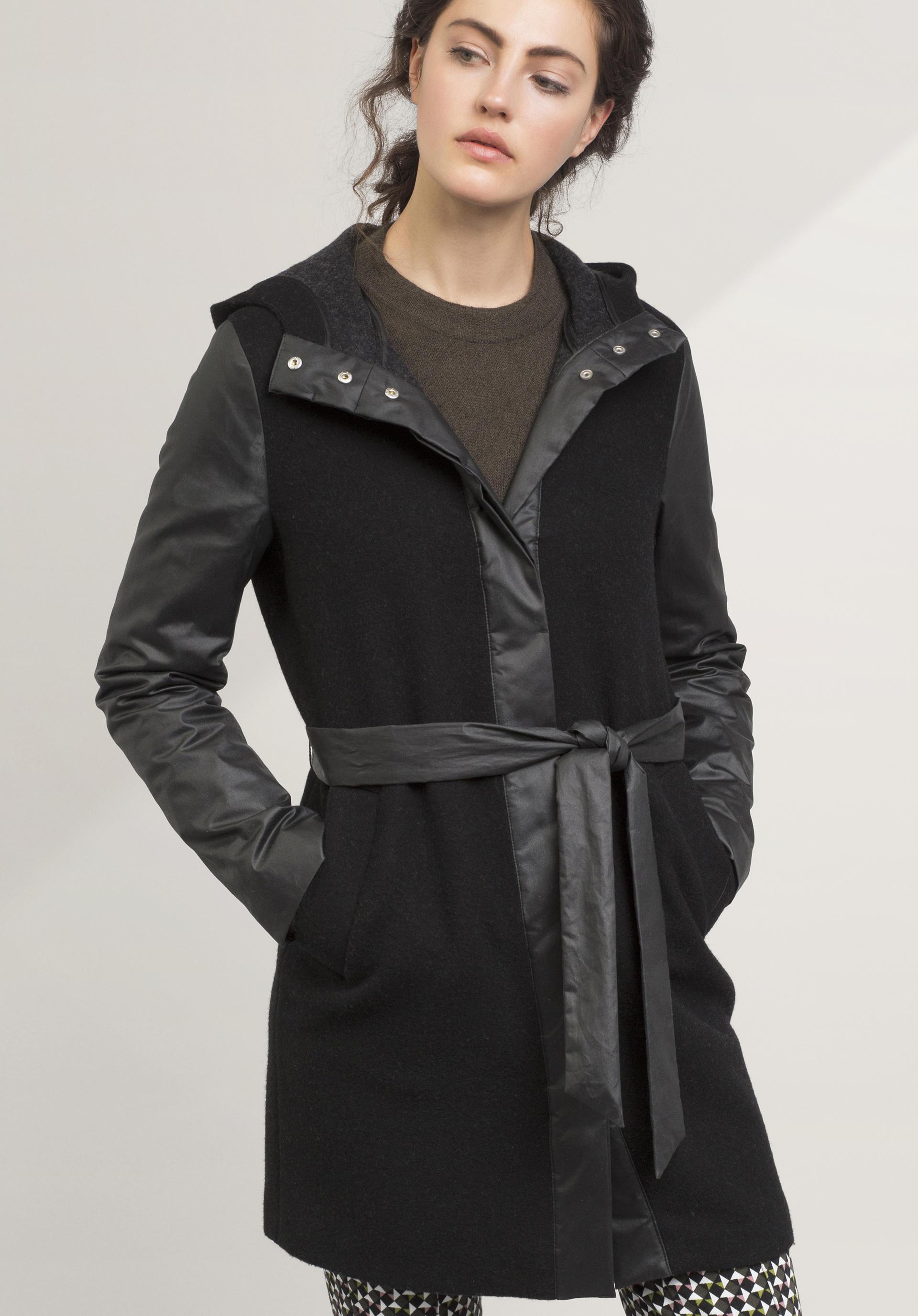 Damen mantel schurwolle
