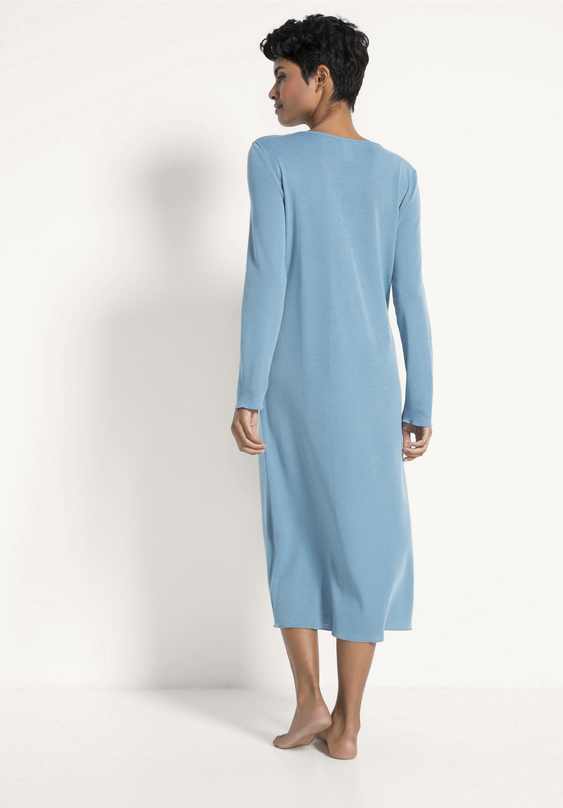 size 40 6acfd 14fbd Damen Nachthemd PureWOMAN aus Bio-Merinowolle und Seide von hessnatur