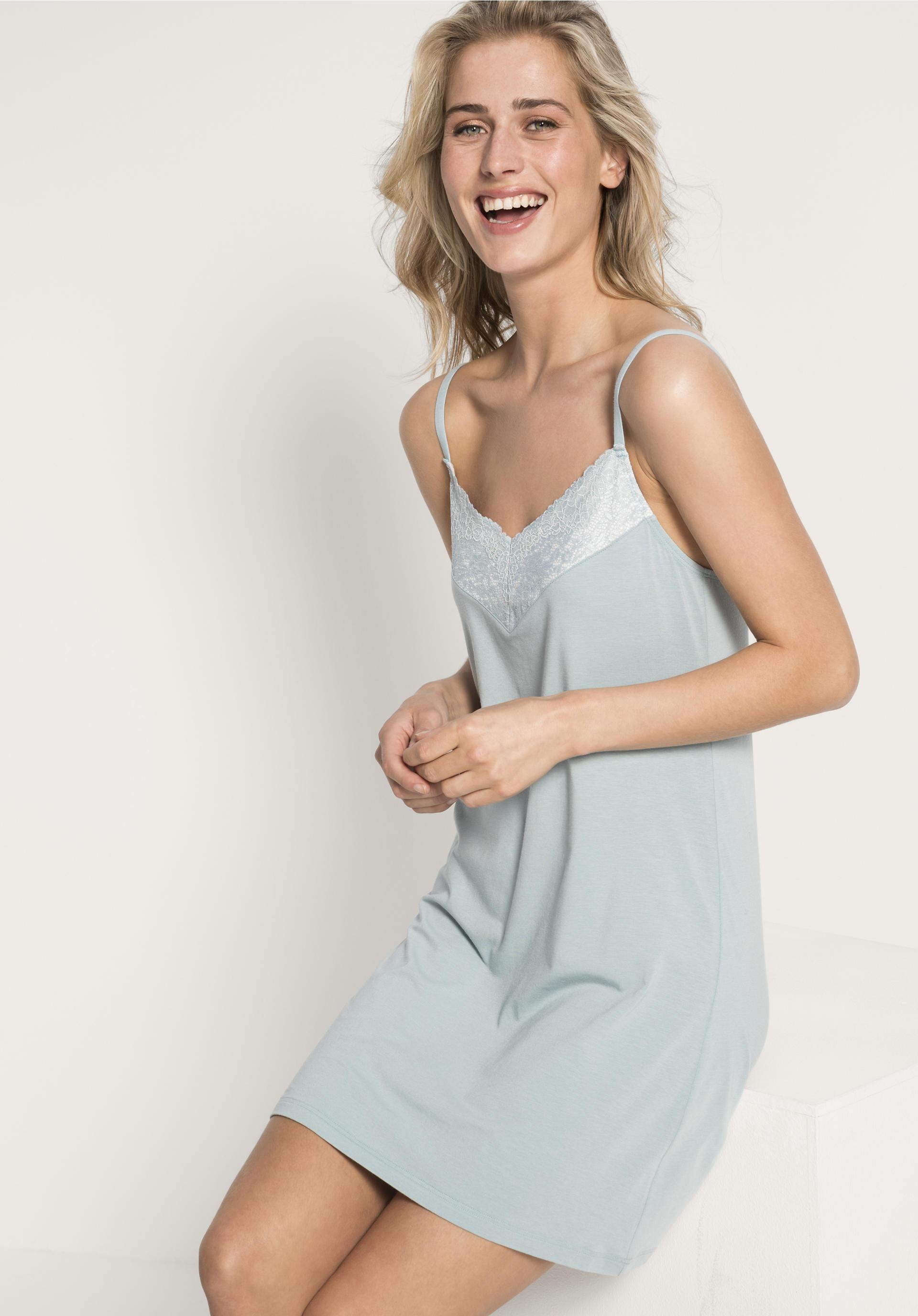 new products 6666b 9d83f Damen Nachthemd aus Bio-Baumwolle und Modal von hessnatur