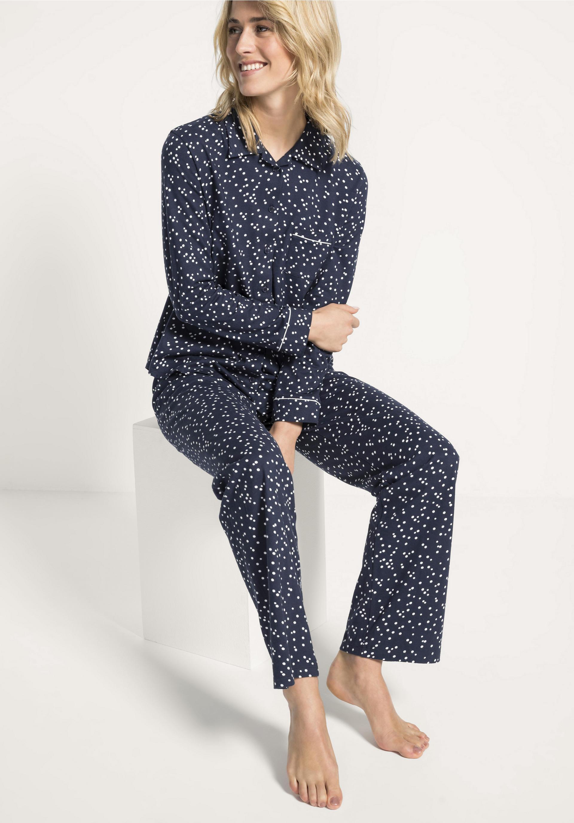 new york a4aac 682fa Damen Pyjama aus reiner Bio-Baumwolle von hessnatur