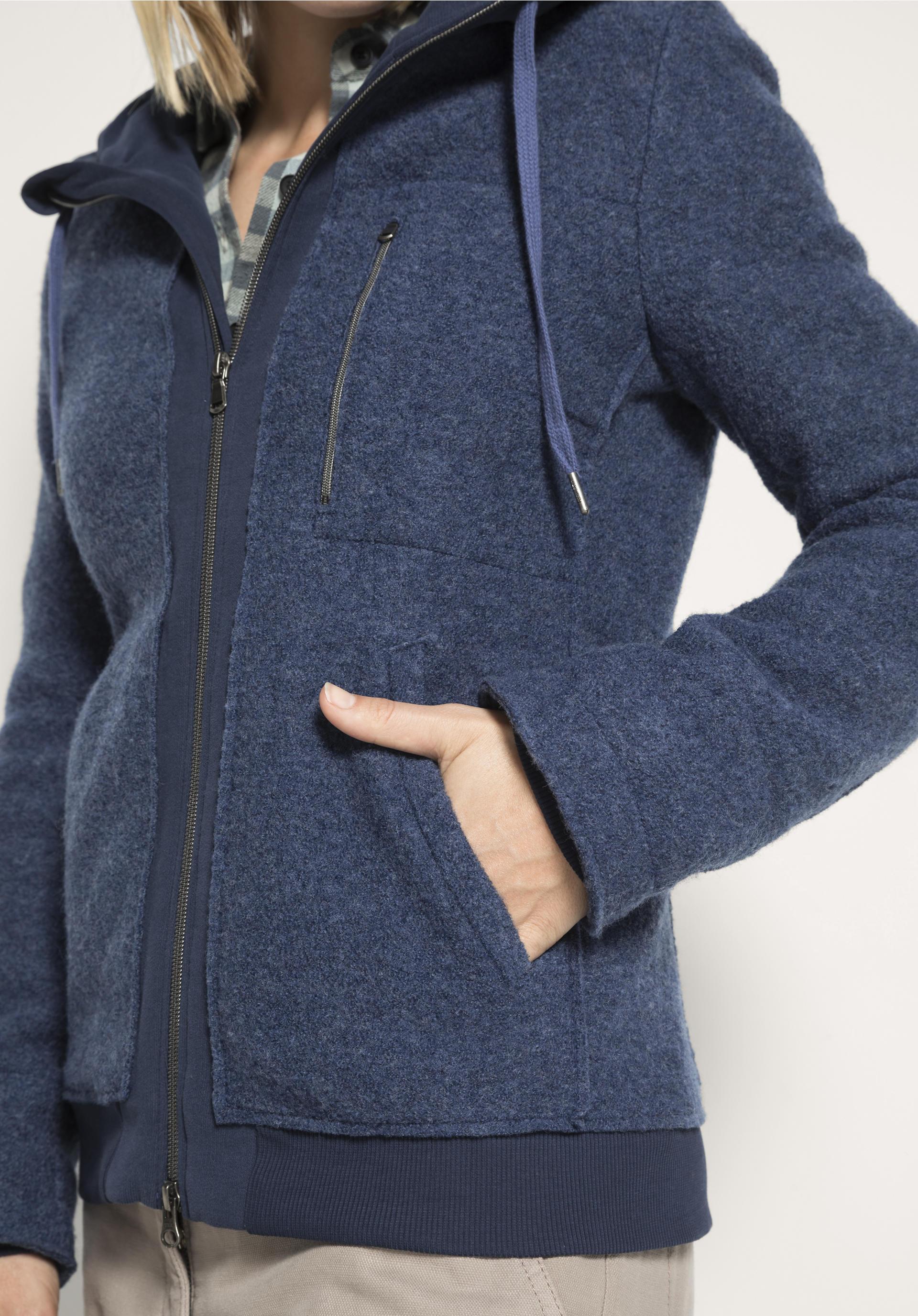 Damen Walk Jacke aus reiner Schurwolle von hessnatur
