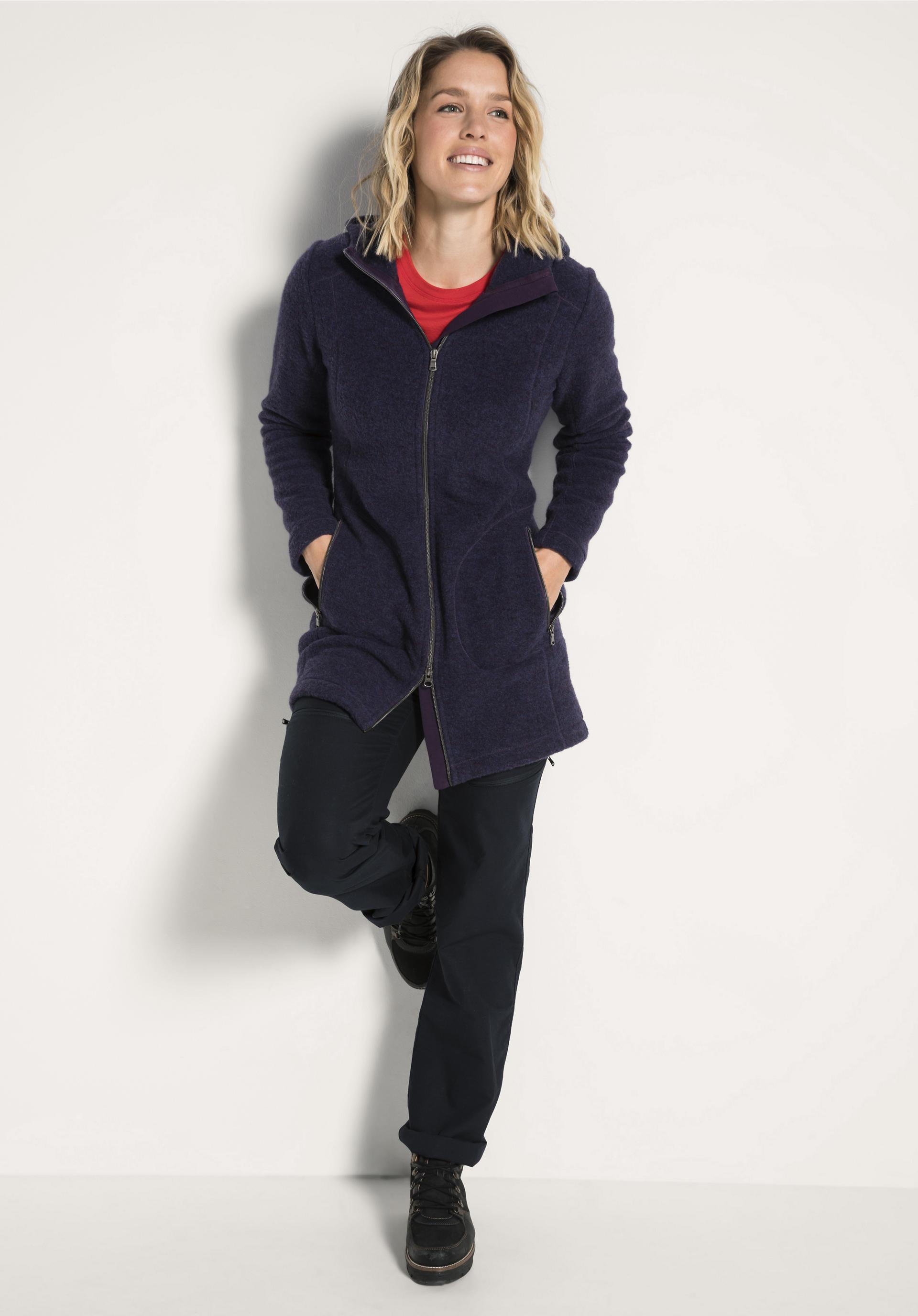 Damen Wollfleece Jacke aus reiner Bio Schurwolle von hessnatur