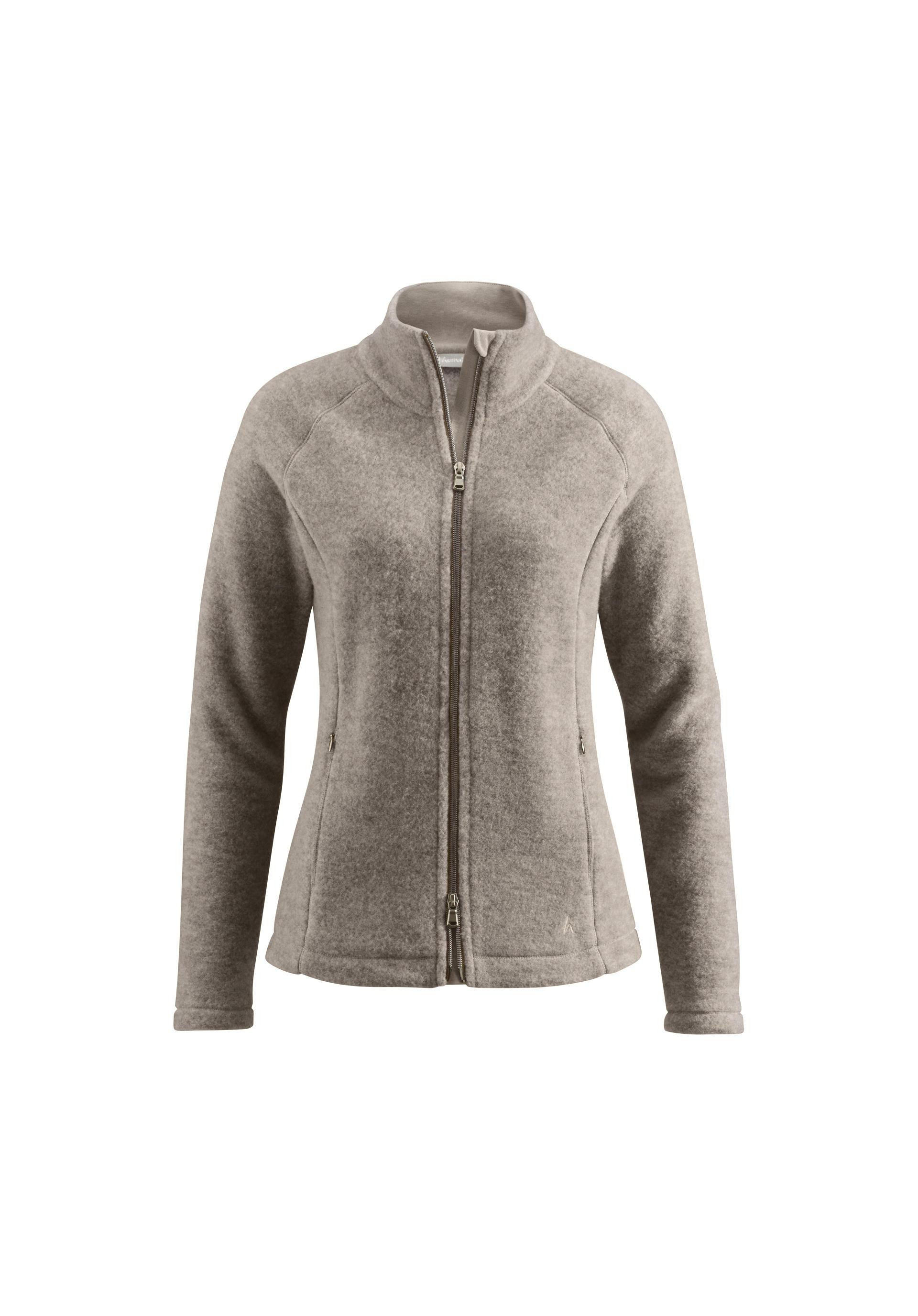 Damen Wollfleece Jacke aus reiner Schurwolle von hessnatur
