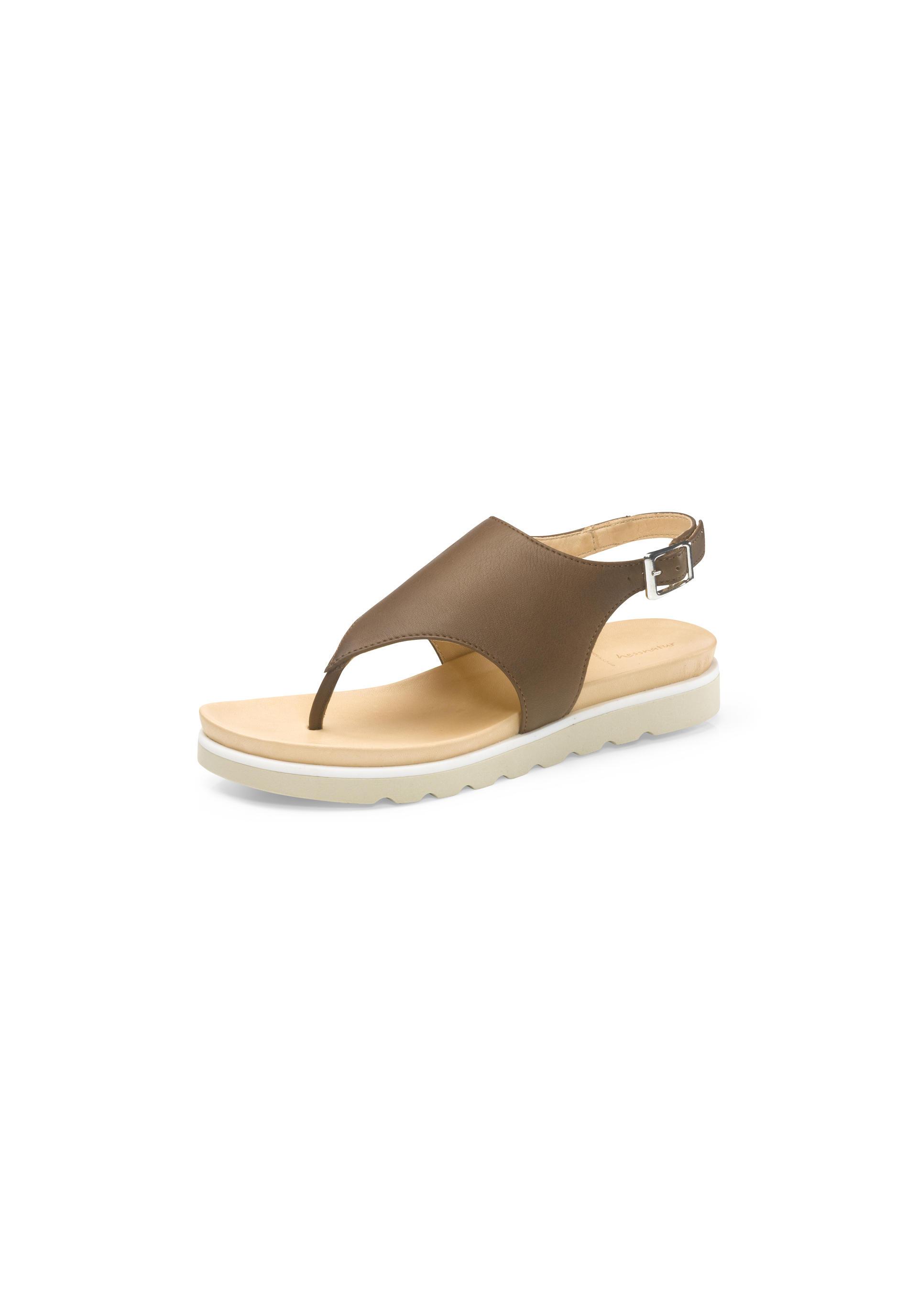 Damen Zehentrenner Sandalette aus Leder von hessnatur