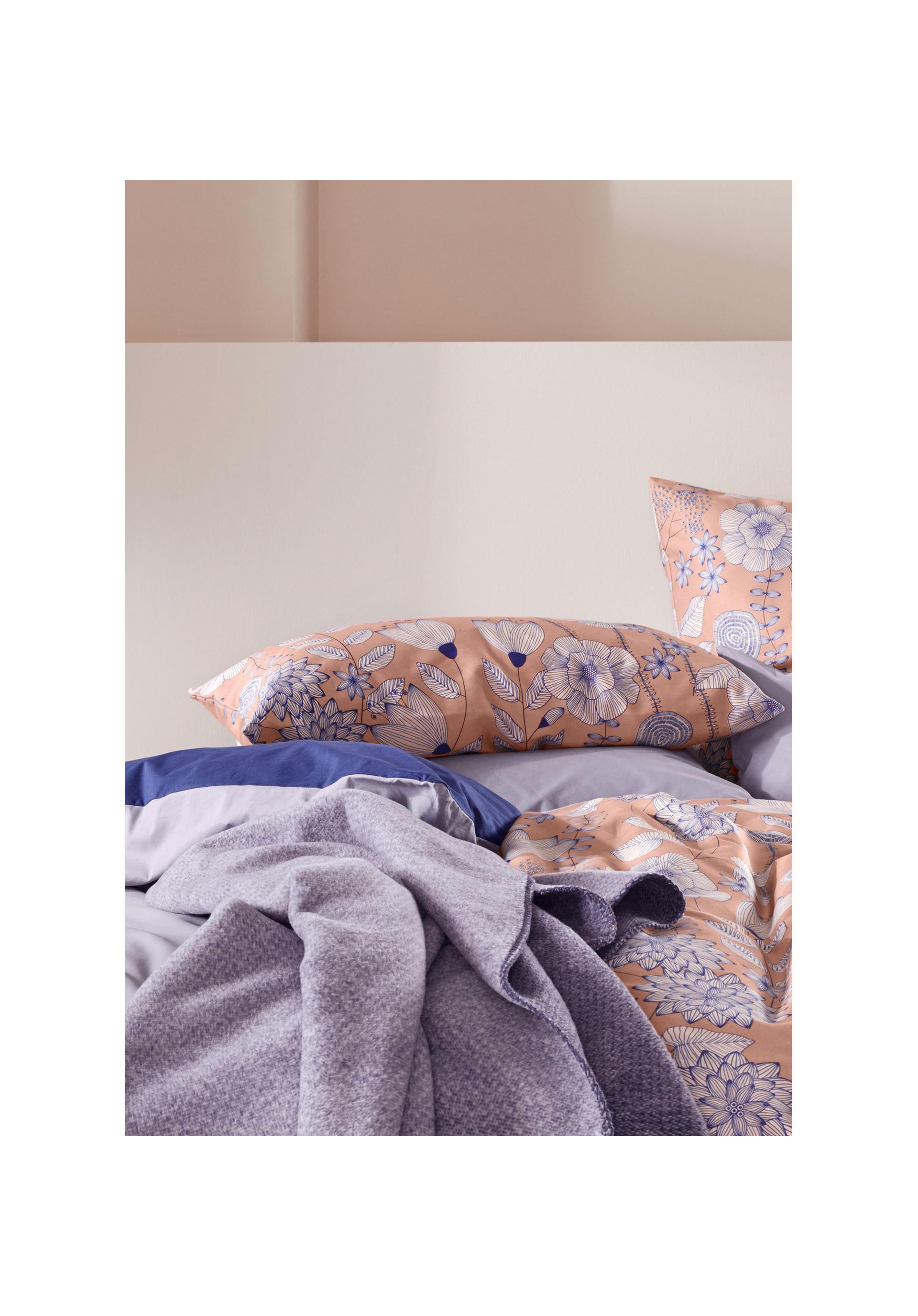 BioTextilien-Allg/äu Decke mit der Blume des Lebens aus Reiner Bio-Baumwolle Hopfen//Natur