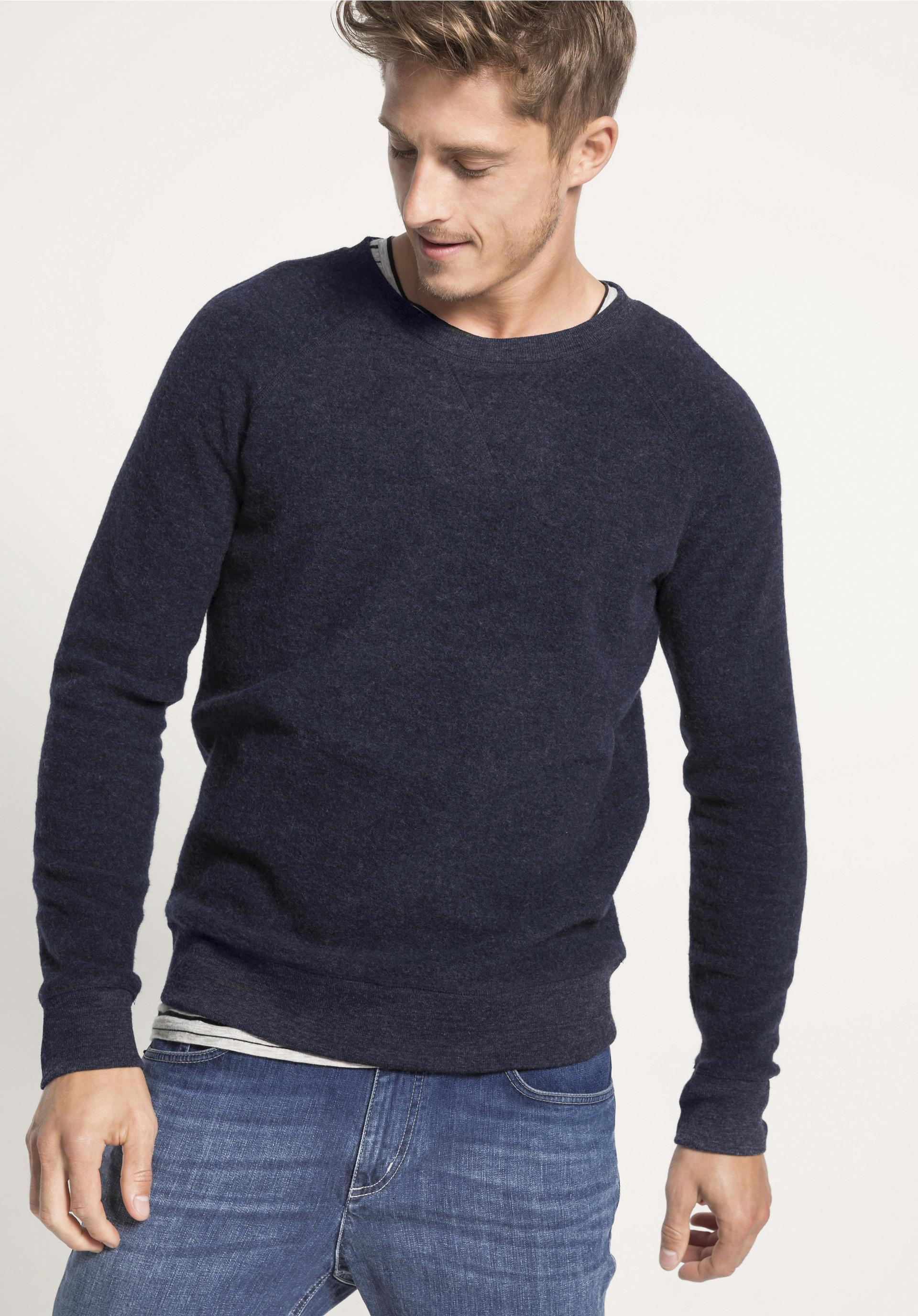 Herren Sweatshirt aus reiner Bio Merinowolle von hessnatur
