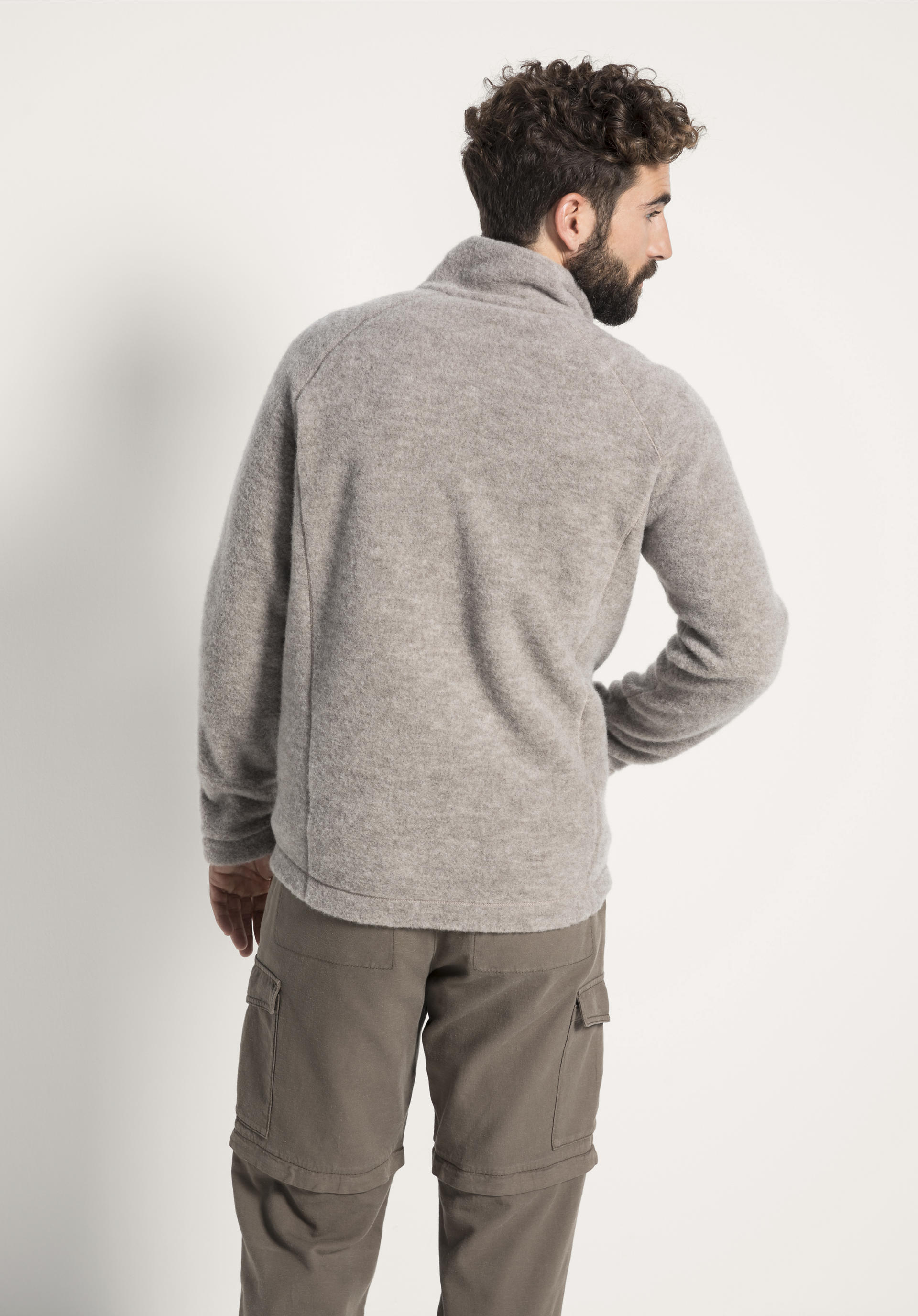 Herren Wollfleece Jacke aus reiner Bio Schurwolle von hessnatur