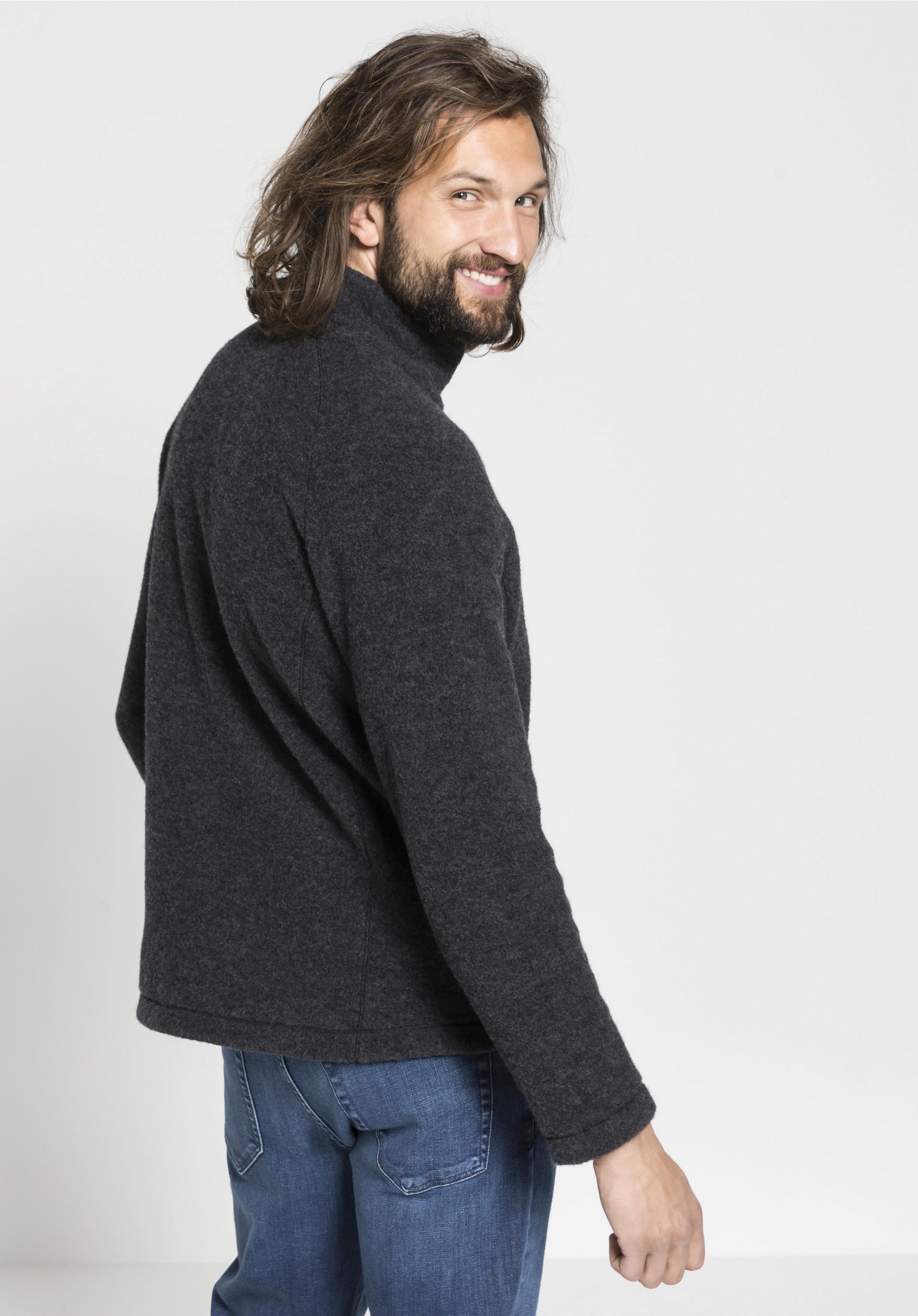 Rabatt Herren Wollfleece Weste aus reiner Bio Schurwolle von