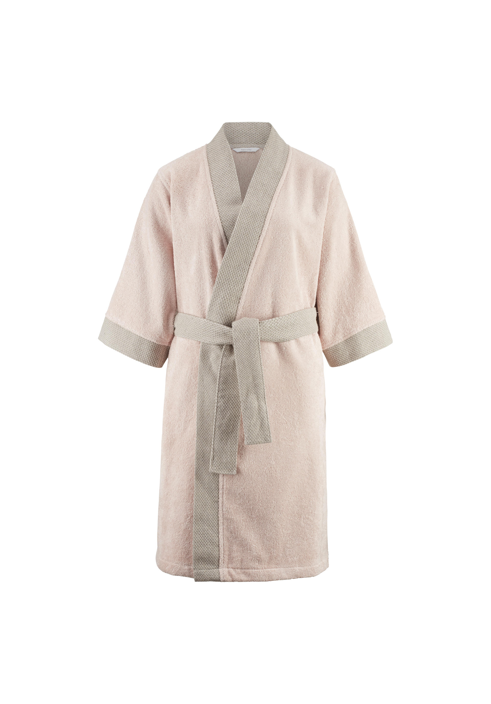 7fd1c107be0008 ... Kimono-Bademantel aus Bio-Baumwolle mit Leinen in der Bordüre