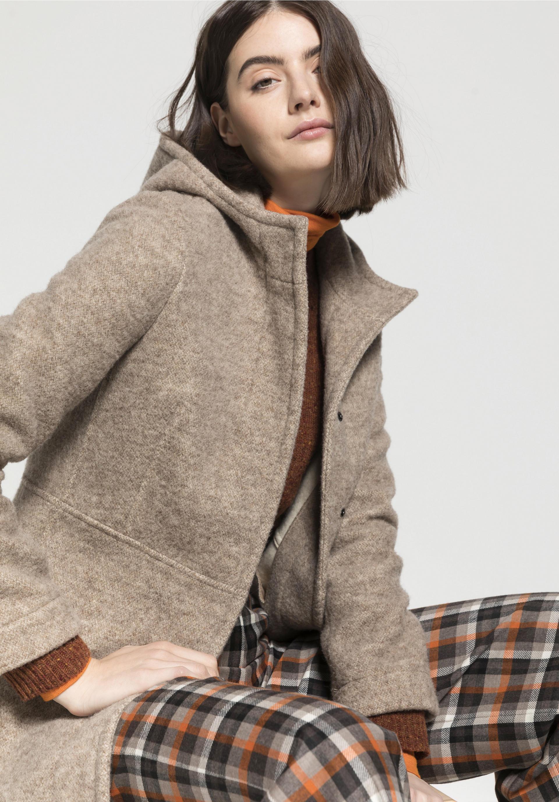 Mantel aus reiner Schurwolle vom Rhönschaf von hessnatur