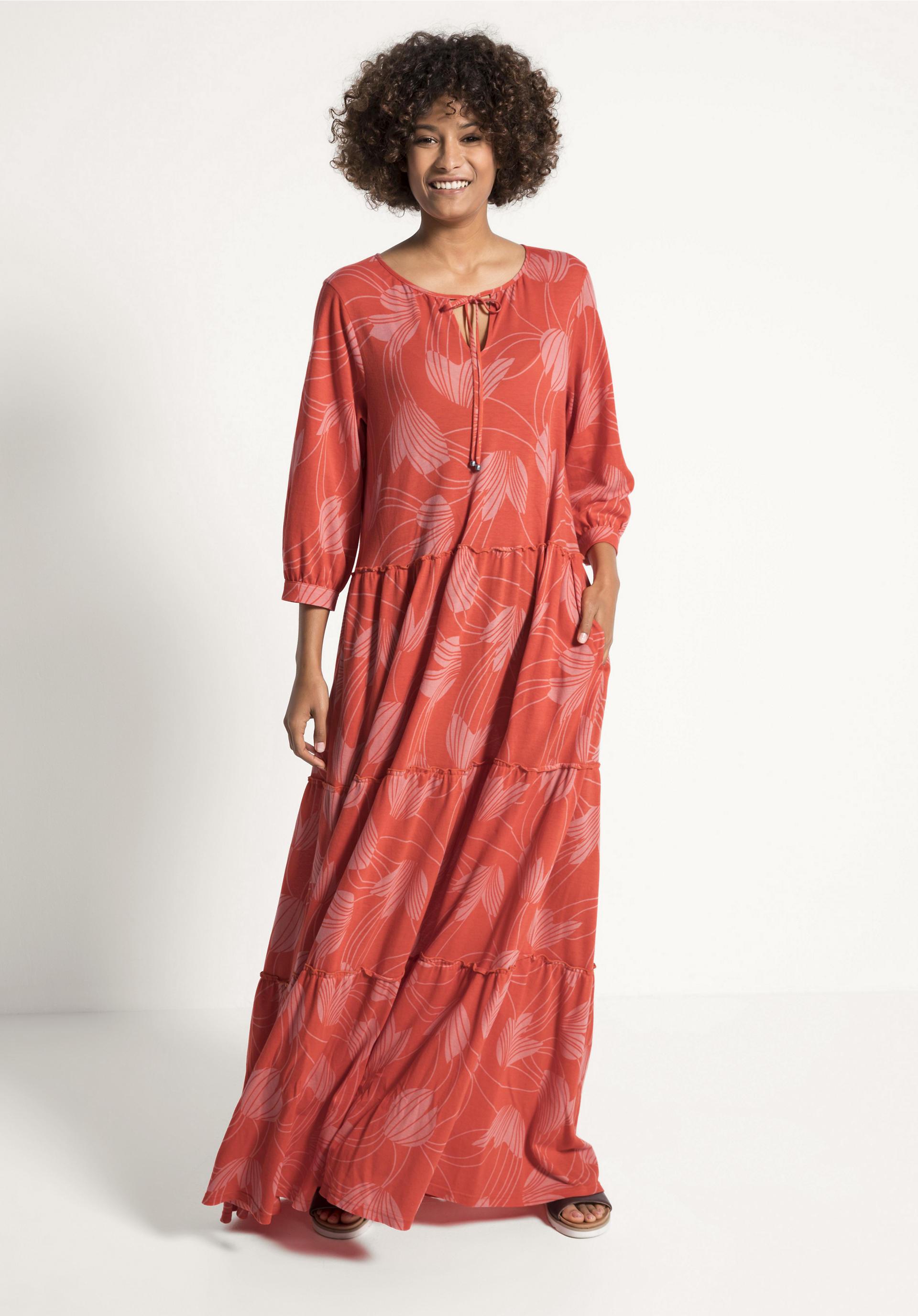 Maxi-Kleid aus reiner Bio-Baumwolle von hessnatur