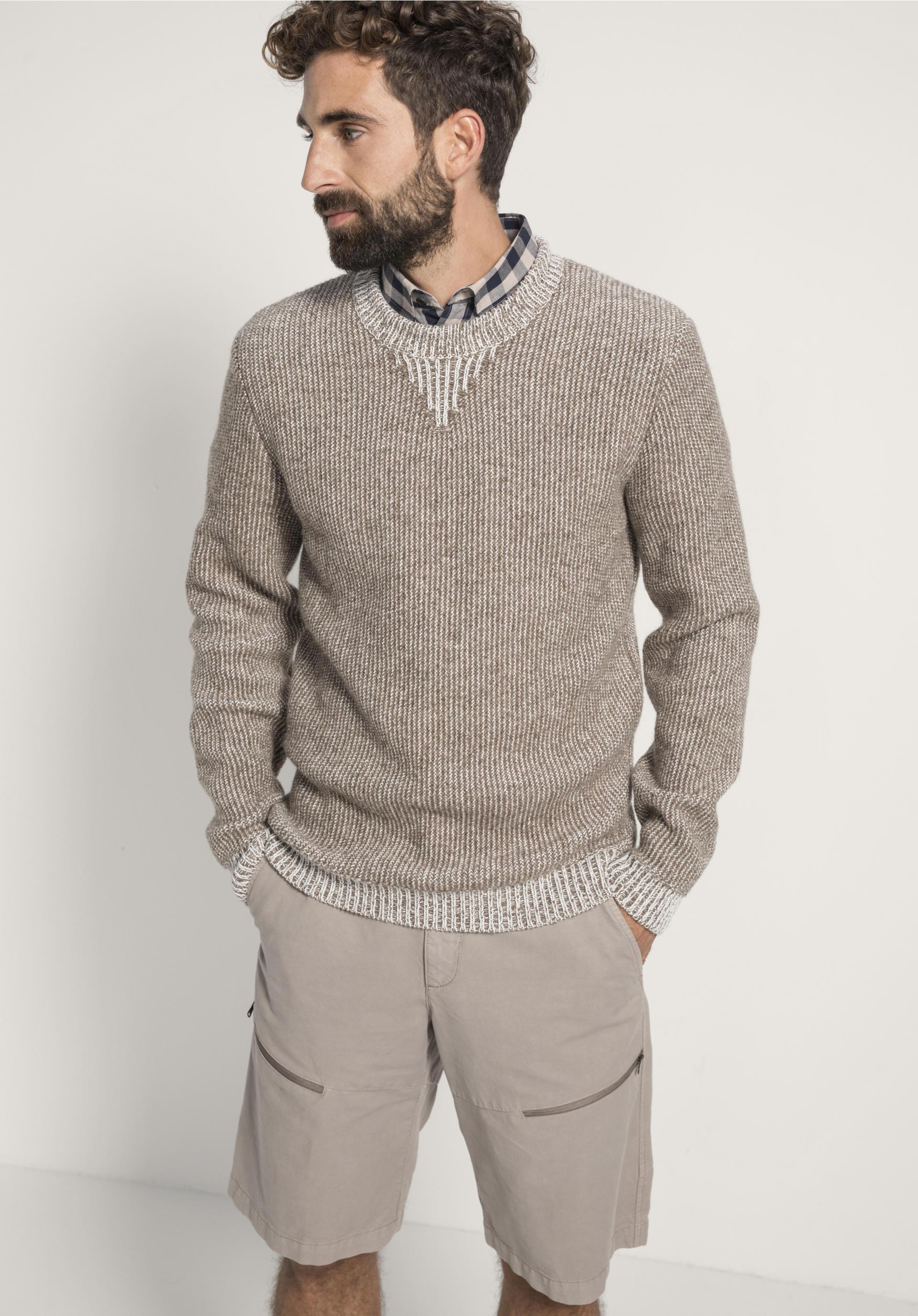 820bbacd0d3923 Pullover aus Rhönwolle und Bio-Baumwolle - hessnatur Deutschland