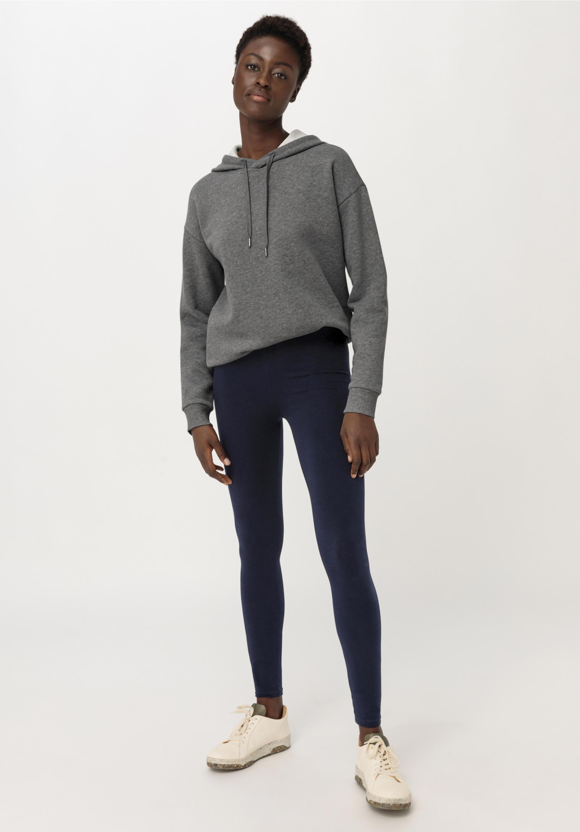 Gesamtlänge Hoher Bund Leggings Premium Baumwolle und Lycra Alle farben größen
